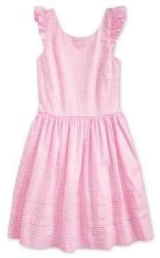 Polo Ralph Lauren Big Girls Gingham Cotton Poplin Dress