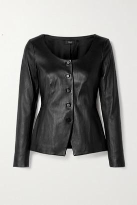 Theory Bristol Leather Jacket - Black