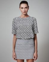 Stella McCartney Diamond-Print Miniskirt