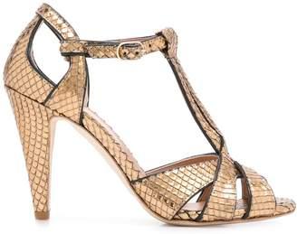 Twin-Set textured high heel sandals