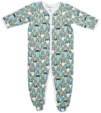 Roller Rabbit The Pings Footie Pajamas (Infant) (Green) Kid's Jumpsuit & Rompers One Piece