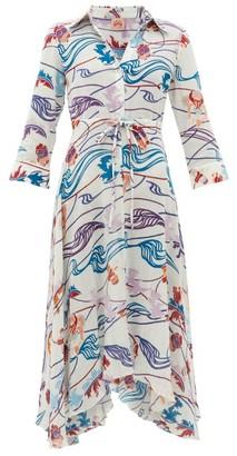 Le Sirenuse Positano Le Sirenuse, Positano - Lucy Magic Flower-print Cotton-voile Dress - Cream Print