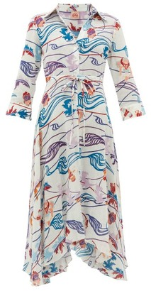 Le Sirenuse Le Sirenuse, Positano - Lucy Magic Flower-print Cotton-voile Dress - Womens - Cream Print