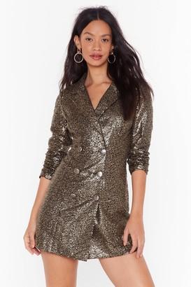 Nasty Gal Womens We Always Sequin Blazer Dress - Metallics - 4