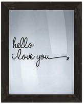 PTM Images Hello I Love You Framed Silkscreen