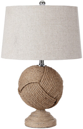 Jonathan Y Designs Monkey's Fist 24In Knotted Rope Table Lamp