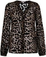 Borbonese leopard print blouse