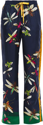 F.R.S For Restless Sleepers Ettore Printed Silk-twill Wide-leg Pants