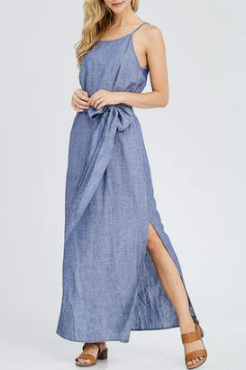 Jolie Chambray Maxi Dress