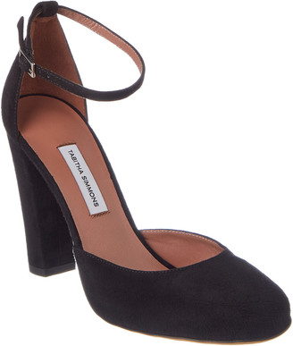 Tabitha Simmons Petra Suede Ankle Strap Pump