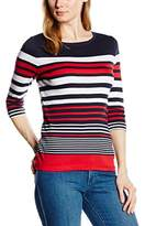 Olsen Women's Striped 3/4 Sleeve T-Shirt,(Manufacturer Size: 36)