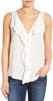 Matty M Ruffled V-Neck Sleeveless Blouse