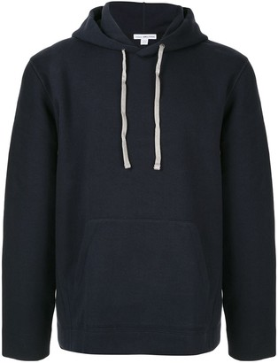 James Perse loose-fit contrast-stitching hoodie