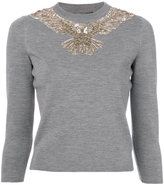Alexander McQueen sequin embroidered eagle sweater