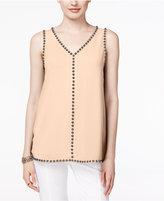 Alfani Petite Embellished Sleeveless Blouse, Only at Macy's