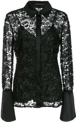 Josie Natori embroidered blouse