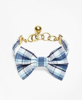Brooks Brothers Kiel James Patrick Seersucker Plaid Bow Tie Bracelet