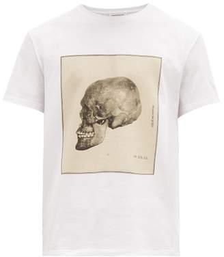 Alexander McQueen Anatomical Skull-print Cotton T-shirt - Mens - White Multi