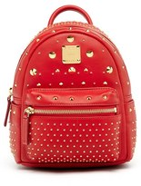MCM 'X Mini Stark - Bebe Boo' Studded Leather Backpack - Red