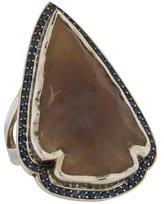 Pamela Love Chalcedony & Sapphire Arrowhead Ring