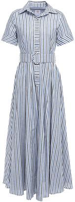 Gül Hürgel Belted Gingham Cotton And Linen-blend Maxi Shirt Dress