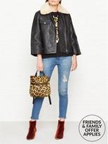Whistles Eliza Wide Sleeve Leather Jacket