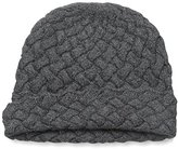 Sofia Cashmere Women's Basket Weave Knit Hat, Heather Charcoal