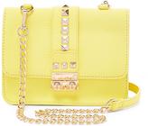 BCBGMAXAZRIA Yellow Stud Caviar Crossbody Bag
