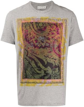 Etro floral print detail T-shirt