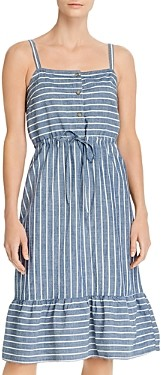 Vero Moda Chambray Striped A-Line Dress