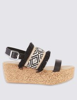 Marks and Spencer Wedge Heel Fray Sandals