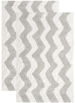 Safavieh Handmade Plush Master Bath Pearl Grey Cotton Rug (1' 9 x 2' 10)