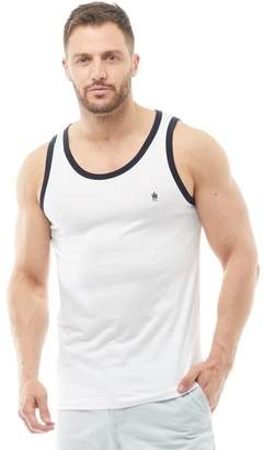 French Connection Mens Ringer Vest White/Marine