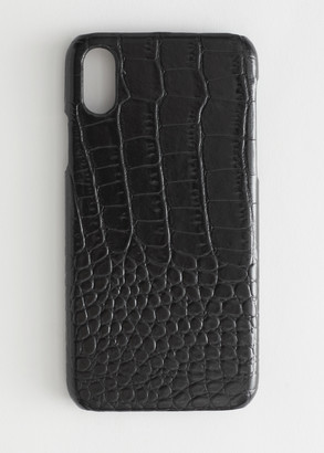 And other stories Croc Embossed iPhone Case