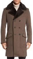Billy Reid Men's Bowery Cashmere Long Coat With Genuine Nutria Fur Collar