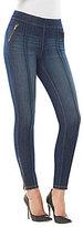 Peter Nygard Nygard Slims Petite Luxe Denim Accent Zipper Jeans