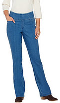 "Denim & Co. As Is How Smooth"" Petite Pull-on L Pocket Boot Cut Trousers"