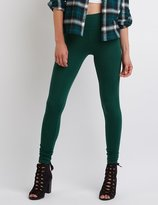 Charlotte Russe High-Waisted Stretch Cotton Leggings