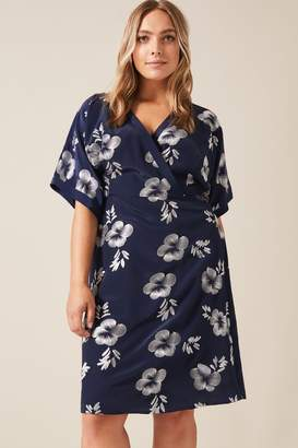 Studio 8 Womens Blue Lucinda Embroidered Dress - Blue