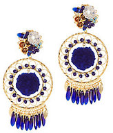 Mercedes Salazar Cobalt Pom Fiesta Earrings