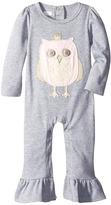 Mud Pie Owl Ruffle One-Piece (Infant)