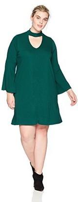 Karen Kane Women's Plus Size Emerald Mockneck Taylor Dress 0X