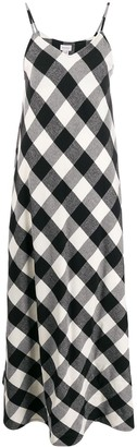 Woolrich sleeveless check maxi-dress