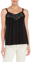 Cable & Gauge Embroidered Double Strap Tank