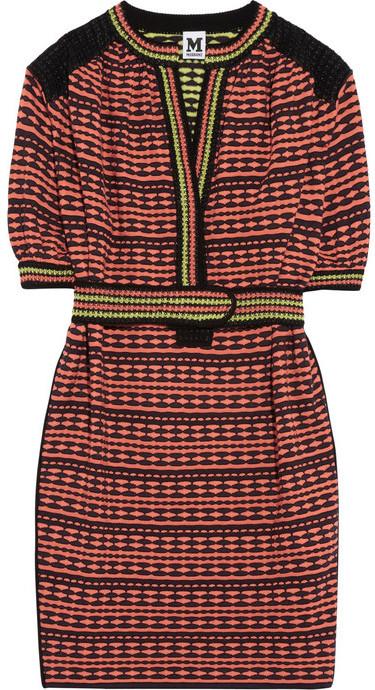 M Missoni Belted cotton-blend dress