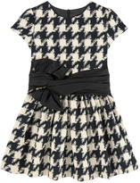Lili Gaufrette Houndstooth-printed dress