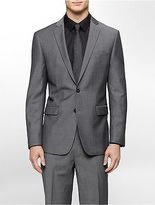 Calvin Klein Mens Body Slim Fit Grey Tick Suit Jacket