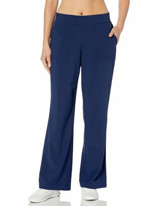 Skechers Women's Go Walk Skechweave Adventure 4 Pocket Wide Leg Pant Blue Iris XXL