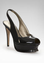 Zahara Leather Slingback Platform Sandal
