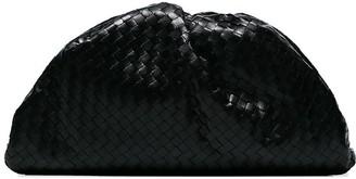 Bottega Veneta black Intrecciato-woven leather clutch bag